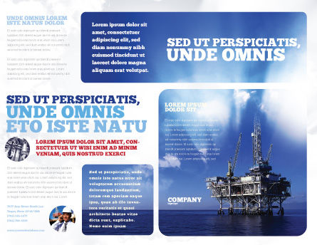Drilling Platform Brochure Template, Outer Page, 02356, Utilities/Industrial — PoweredTemplate.com