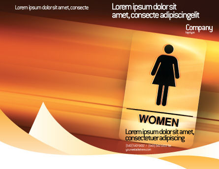 Icon Women Brochure Template Outer Page