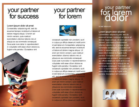 Academic Studies Brochure Template, Inner Page, 02359, Education & Training — PoweredTemplate.com