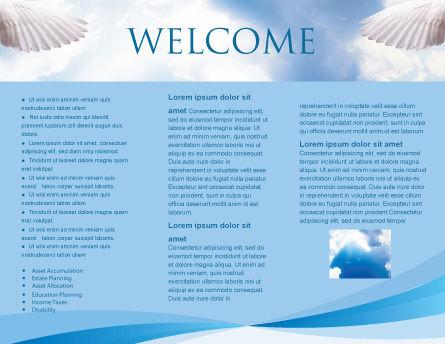 Holy Spirit Brochure Template, Inner Page, 02361, Religious/Spiritual — PoweredTemplate.com