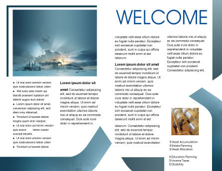 Power Station Brochure Template Inner Page