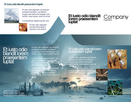 Power Station Brochure Template Outer Page