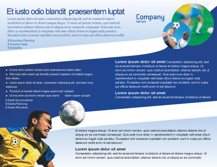 Head In Soccer Brochure Template, Inner Page, 02365, Sports — PoweredTemplate.com