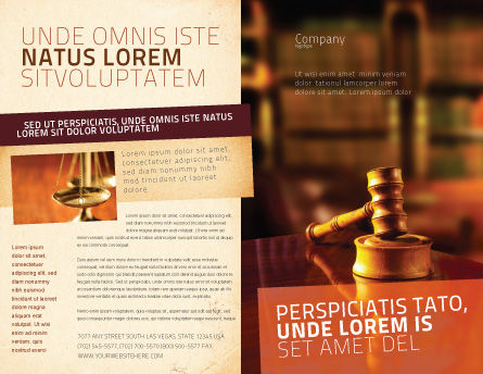 Juridical Brochure Template Outer Page