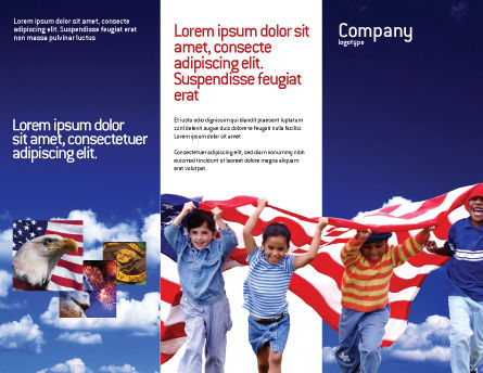 Children Of The USA Brochure Template, Outer Page, 02377, America — PoweredTemplate.com
