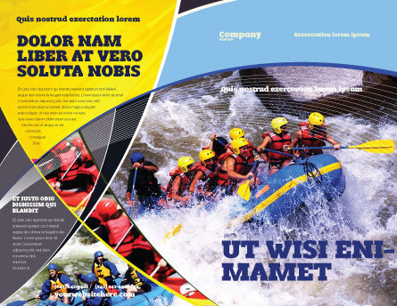 Rafting Brochure Template, Outer Page, 02380, Sports — PoweredTemplate.com