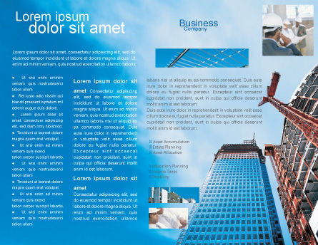 Building Company Brochure Template, Inner Page, 02402, Construction — PoweredTemplate.com
