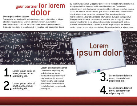 Algebraic Formulas Brochure Template, Inner Page, 02406, Education & Training — PoweredTemplate.com