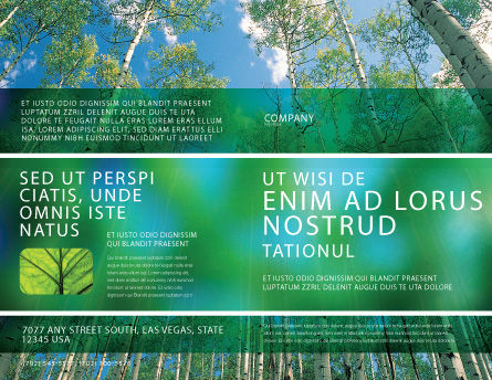 Forest Brochure Template, Outer Page, 02415, Nature & Environment — PoweredTemplate.com