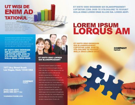 Pieces of Puzzle Brochure Template, Outer Page, 02430, Business Concepts — PoweredTemplate.com