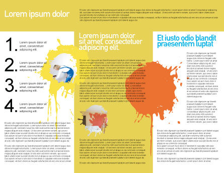 Yellow Paint Brochure Template Inner Page