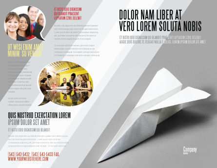 Paper Airplane Brochure Template Outer Page