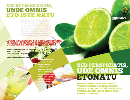 Lime Brochure Template, Outer Page, 02460, Food & Beverage — PoweredTemplate.com