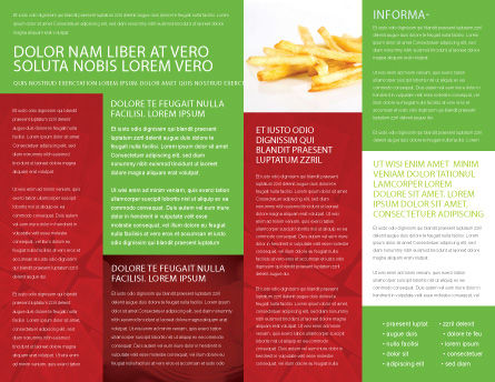 Burger Brochure Template, Inner Page, 02463, Food & Beverage — PoweredTemplate.com