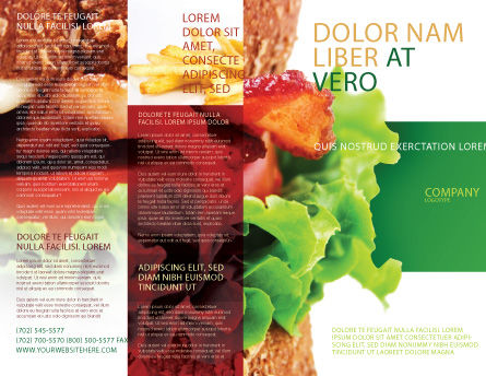 Burger Brochure Template, Outer Page, 02463, Food & Beverage — PoweredTemplate.com