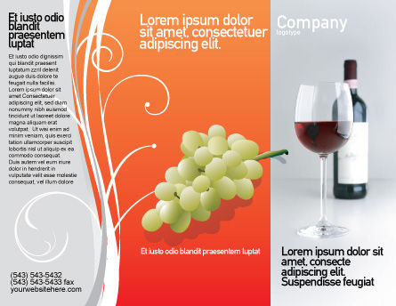 Bottle of Wine Brochure Template Outer Page