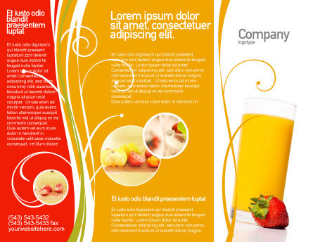 Juice Brochure Template, Outer Page, 02489, Food & Beverage — PoweredTemplate.com