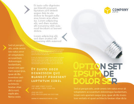 Lamp Brochure Template, Outer Page, 02494, Consulting — PoweredTemplate.com