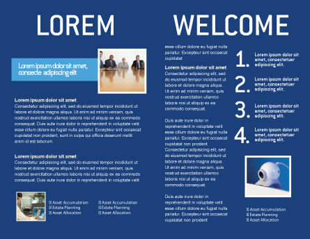 Globalization Brochure Template, Inner Page, 02495, Global — PoweredTemplate.com