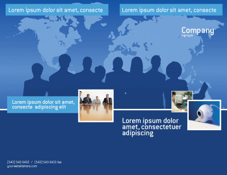 Globalization Brochure Template, Outer Page, 02495, Global — PoweredTemplate.com