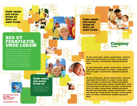 Junket Brochure Template, Inner Page, 02505, People — PoweredTemplate.com