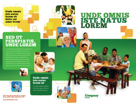 Junket Brochure Template, Outer Page, 02505, People — PoweredTemplate.com