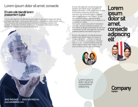 Glass Globe Brochure Template Outer Page