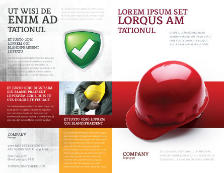 Personal Safety Brochure Template Outer Page