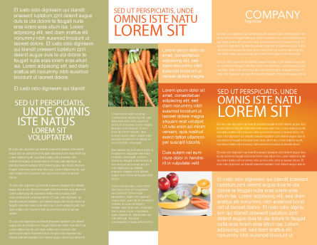 Carrot Brochure Template, Inner Page, 02511, Agriculture and Animals — PoweredTemplate.com