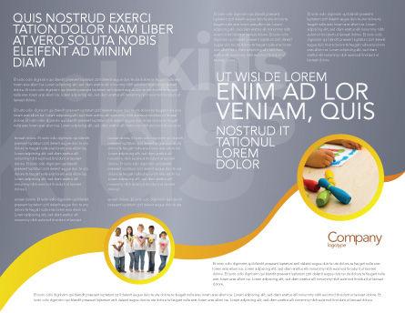 Nursery Brochure Template, Inner Page, 02518, People — PoweredTemplate.com