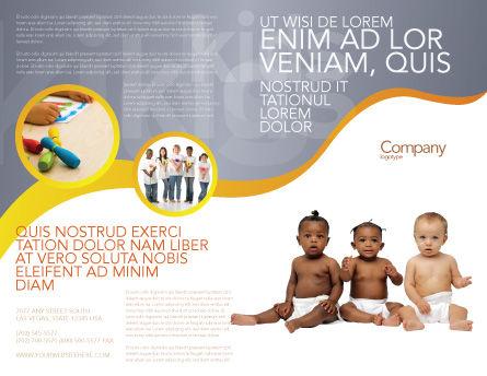 Nursery Brochure Template, Outer Page, 02518, People — PoweredTemplate.com
