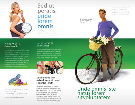 Wellness Brochure Template, Outer Page, 02522, People — PoweredTemplate.com