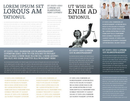 Judicial Brochure Template Inner Page