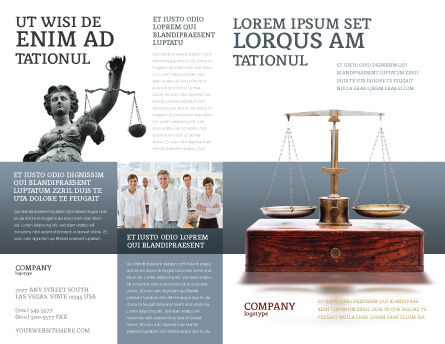 Judicial Brochure Template Outer Page