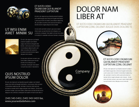 Yin Yang Brochure Template Outer Page