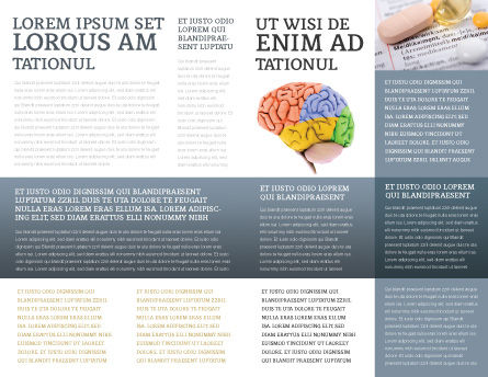 Brain In Gray Brochure Template, Inner Page, 02541, Medical — PoweredTemplate.com