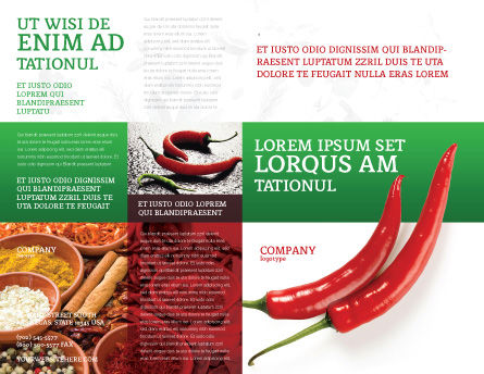 Hot Pepper Brochure Template, Outer Page, 02550, Food & Beverage — PoweredTemplate.com