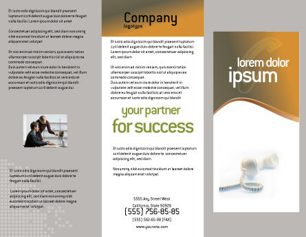 Helpline Brochure Template, Outer Page, 02551, Telecommunication — PoweredTemplate.com