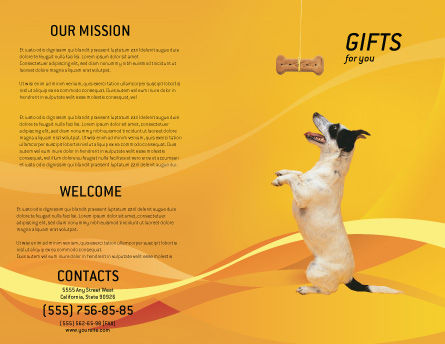 Pet Brochure Template, Outer Page, 02559, Business Concepts — PoweredTemplate.com