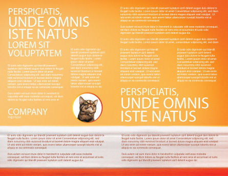 Curious Cat Brochure Template, Inner Page, 02560, Agriculture and Animals — PoweredTemplate.com