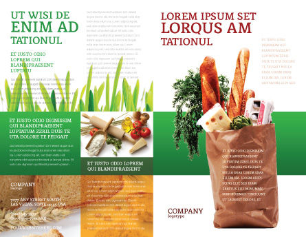 Products Brochure Template, Outer Page, 02561, Food & Beverage — PoweredTemplate.com
