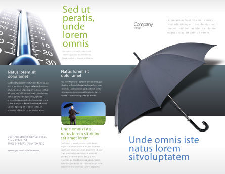 Umbrella Brochure Template, Outer Page, 02562, Business Concepts — PoweredTemplate.com