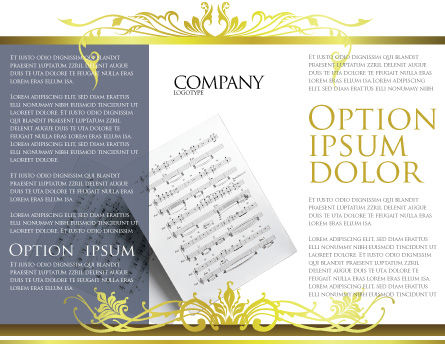 Printed Music Brochure Template Inner Page