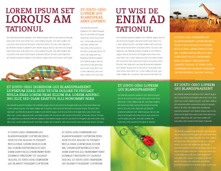 Zebra Brochure Template, Inner Page, 02564, Agriculture and Animals — PoweredTemplate.com