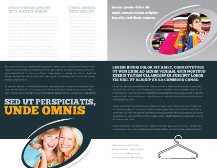 Clothes Hangers Brochure Template, Inner Page, 02565, Business Concepts — PoweredTemplate.com