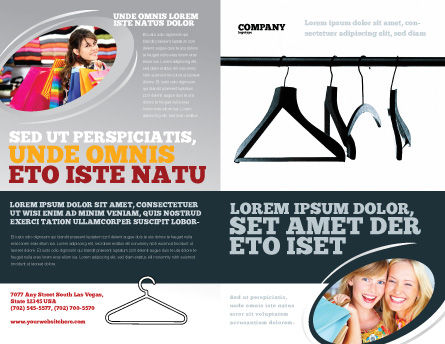 Clothes Hangers Brochure Template Outer Page