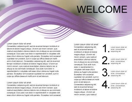 Lotto Balls Brochure Template, Inner Page, 02574, Art & Entertainment — PoweredTemplate.com