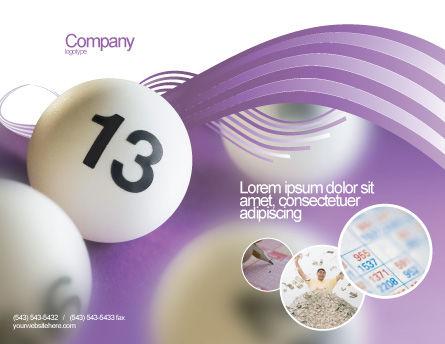 Lotto Balls Brochure Template, Outer Page, 02574, Art & Entertainment — PoweredTemplate.com