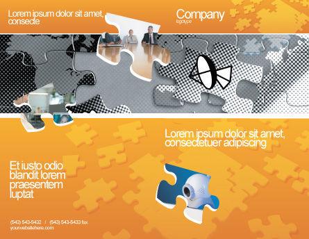 Communication Technology Brochure Template, Outer Page, 02578, Telecommunication — PoweredTemplate.com