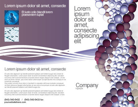 DNA On A Violet Brochure Template Outer Page